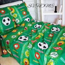 Детская постель Футбол зеленый