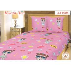 Детская постель Кукла Лол (Lol) на розовом