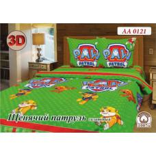 Детская постель Щенячий патруль зеленый